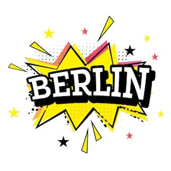 Berliner comic-text im pop-art-stil.