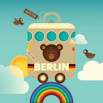 Berliner hintergrund reisen