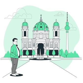 Berliner konzeptillustration
