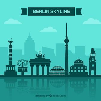Berliner skyline konzept