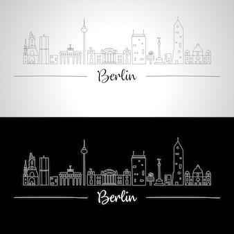Berliner skyline mit allen berühmten gebäuden