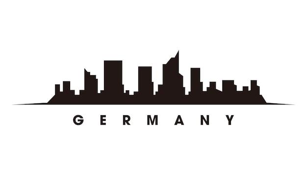 Berliner skyline und wahrzeichen silhouette vektor-illustration