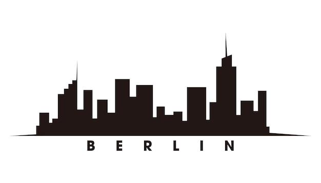 Berliner skyline und wahrzeichen silhouette vektor