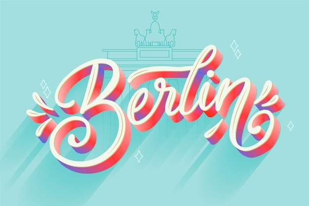 Berliner stadtschriftzug
