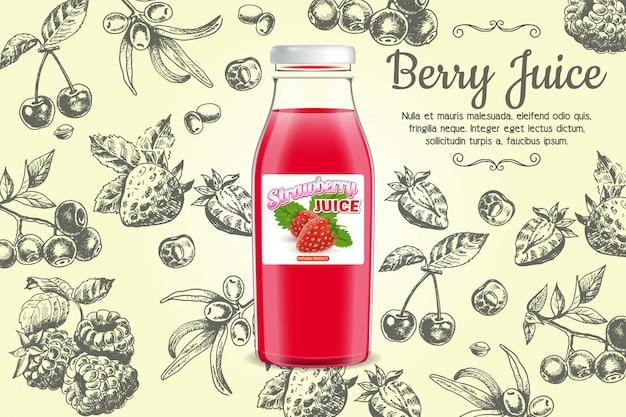 Berry saft banner vorlage