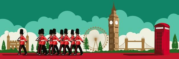 Berühmte landmarke von england