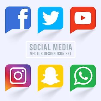 Berühmte social media icons