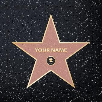 Berühmter schauspieler-star des bürgersteigs
