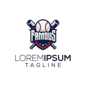 Berühmtes baseball-logo