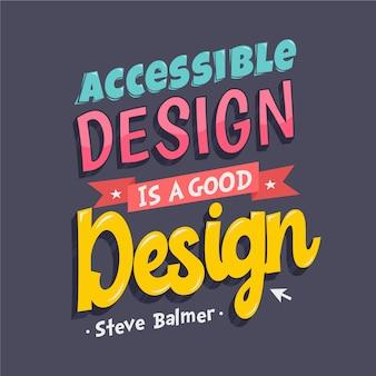 Berühmtes design zitiert schriftzug