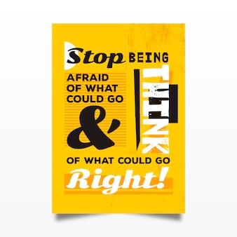Berühmtes design zitiert typografisches plakat