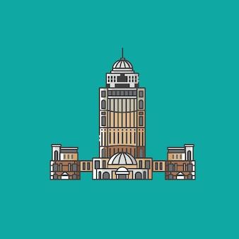 Berühmtes regierungs- und verwaltungsgebäude und touristisches wahrzeichen in kota kinabalu sabah malaysia
