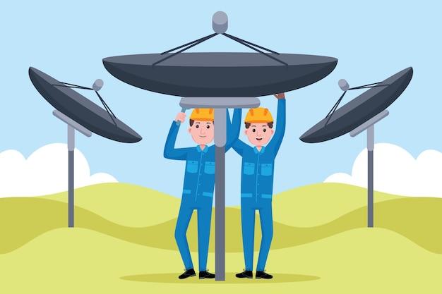 Beruf des telekommunikationsingenieurs