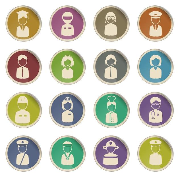 Beruf einfach symbol für web-icons