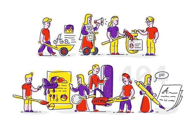 Berufe der entwickler, informationstechnologien.