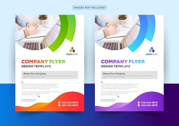 Berufsgeschäft flyer design