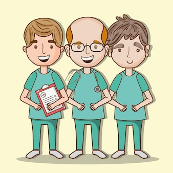 Berufsmanndoktor mit stethoskop und uniform