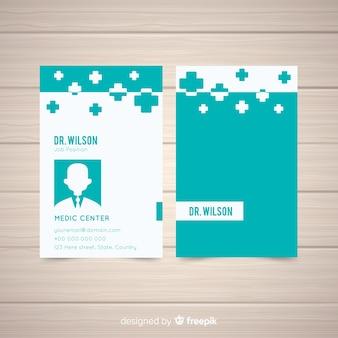 Berufsvisitenkarte in der medizinischen art