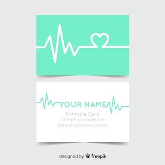 Berufsvisitenkarte mit medizinischem konzept