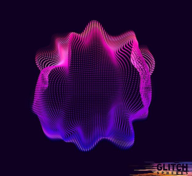 Beschädigter violetter punktkugelhintergrund