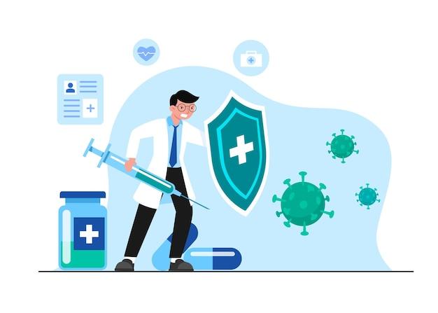 Beschäftigte im gesundheitswesen stehen an vorderster front im öffentlichen gesundheitssystem.