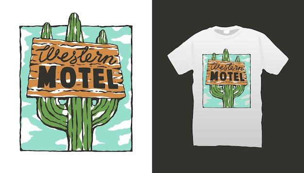 Beschilderung für westliche motels