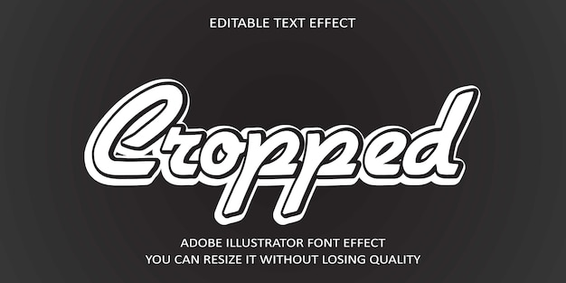 Beschnittener text-effekt