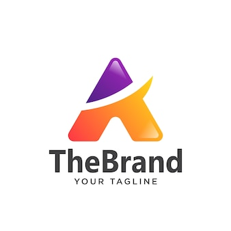 Beschriften sie eine einfache steigung des logos