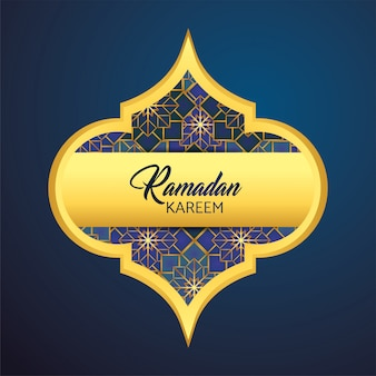 Beschriften sie mit mond und sternen zu ramadan kareem