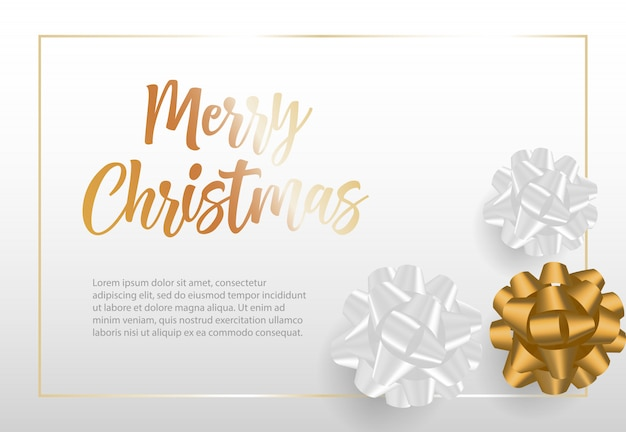 Beschriftung der frohen weihnachten im rahmen mit bandbögen