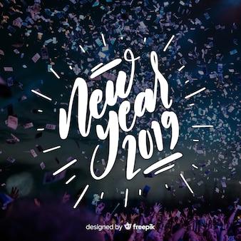 Beschriftung des neuen jahres 2019