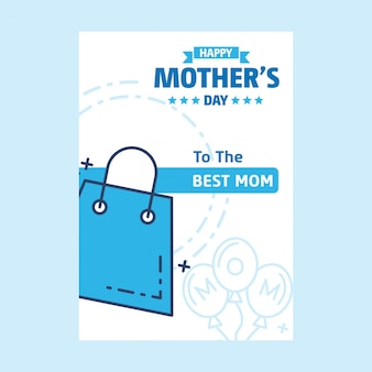 Beschriftung glücklicher Mutter-Tageshintergrund