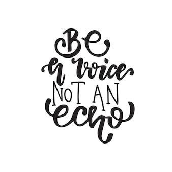 Beschriftung sei eine stimme, kein echo.