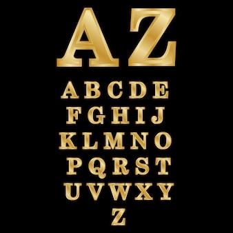Beschriftungs-az vektor-gold des gold 3d