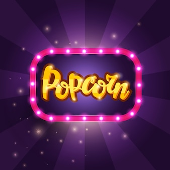 Beschriftungsbanner popcorn