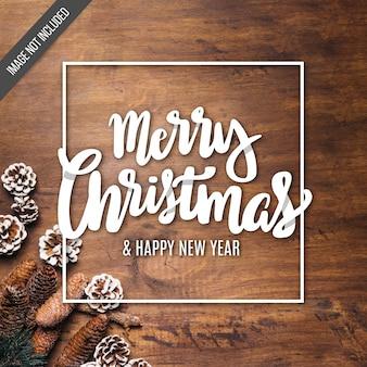 Beschriftungshintergrund der frohen Weihnachten