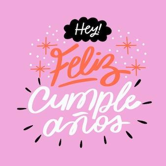 Beschriftungskonzept mit feliz cumpleaños l
