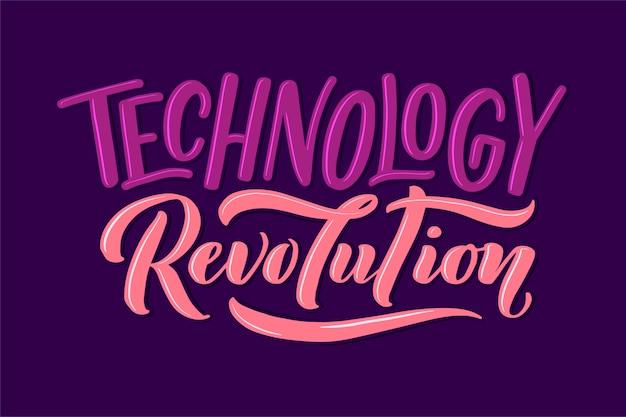 Beschriftungszusammensetzung. motivierendes zitat über gadgets und technologie. hand gezeichnete illustration.