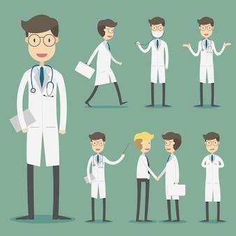 Besetzte medizinische zeichensammlung