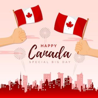 Besonderer großer tag für kanadische staatsbürger