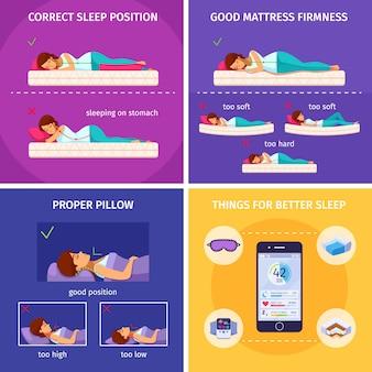 Besserer schlaf isometrischer zusammensetzungssatz