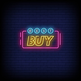 Best buy neon signs style text