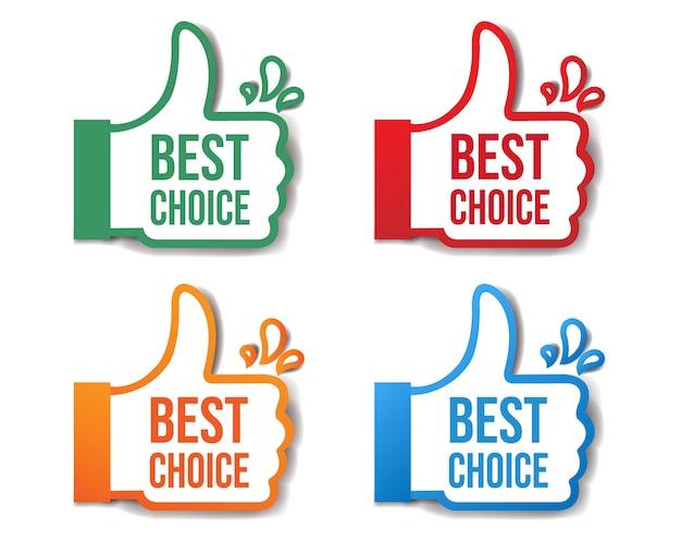 Best choice aufkleber isoliert weißen hintergrund