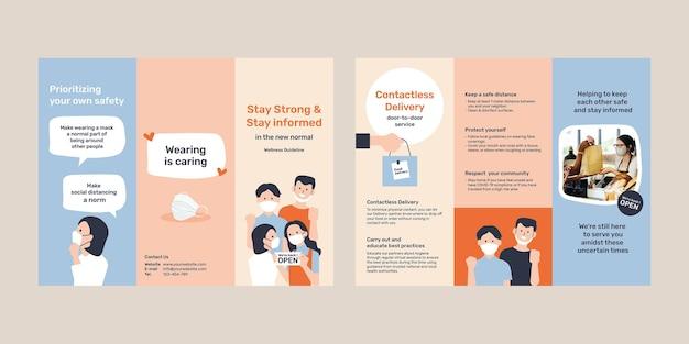 Best practices für covid 19-broschürenvorlage