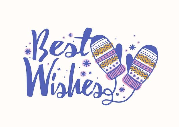 Best wishes holiday schriftzug handgeschrieben mit kursiver dekorativer kalligraphischer schrift