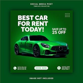 Beste autovermietung für heute instagram banner social media post template