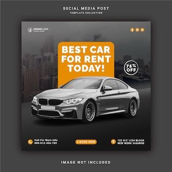 Beste autovermietung für heute instagram story banner social media post template