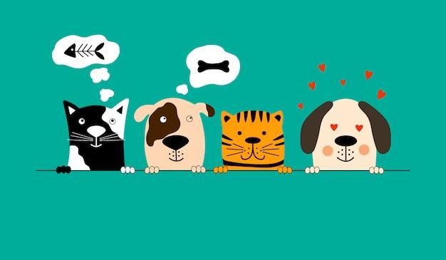 Beste freunde für hunde und katzen.