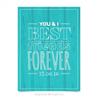 Beste freunde für immer, plakat