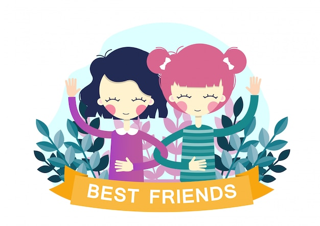 Beste freunde. illustration
